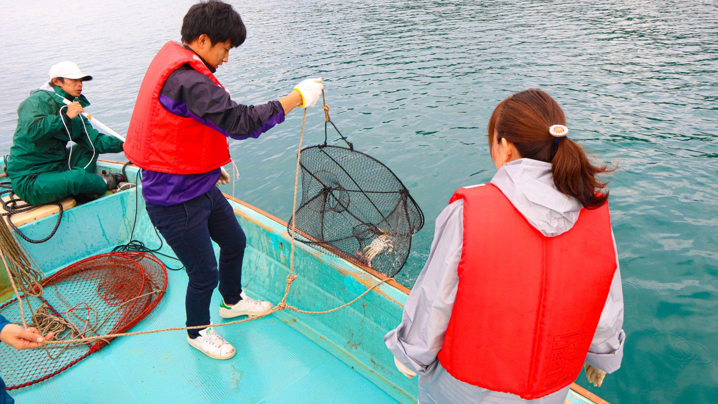 アクティビティとグルメのいいとこ取り!伊勢海老・蟹漁師体験