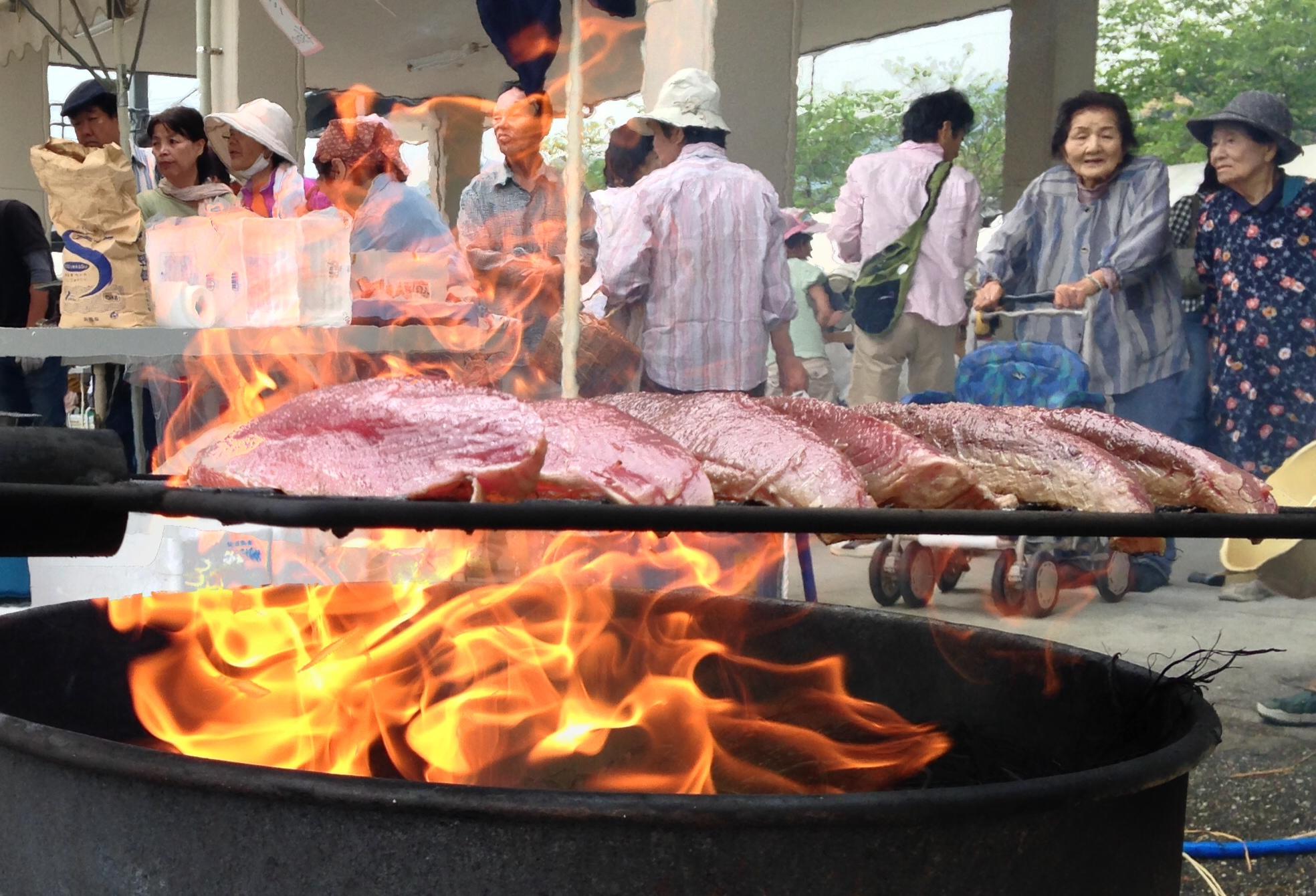 中土佐町 海鮮祭 かつおタタキ