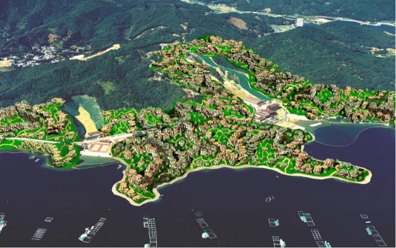 荒川修作+マドリン・ギンズ 高知県須崎市計画全体図 2004 提供=ABRF,Inc.