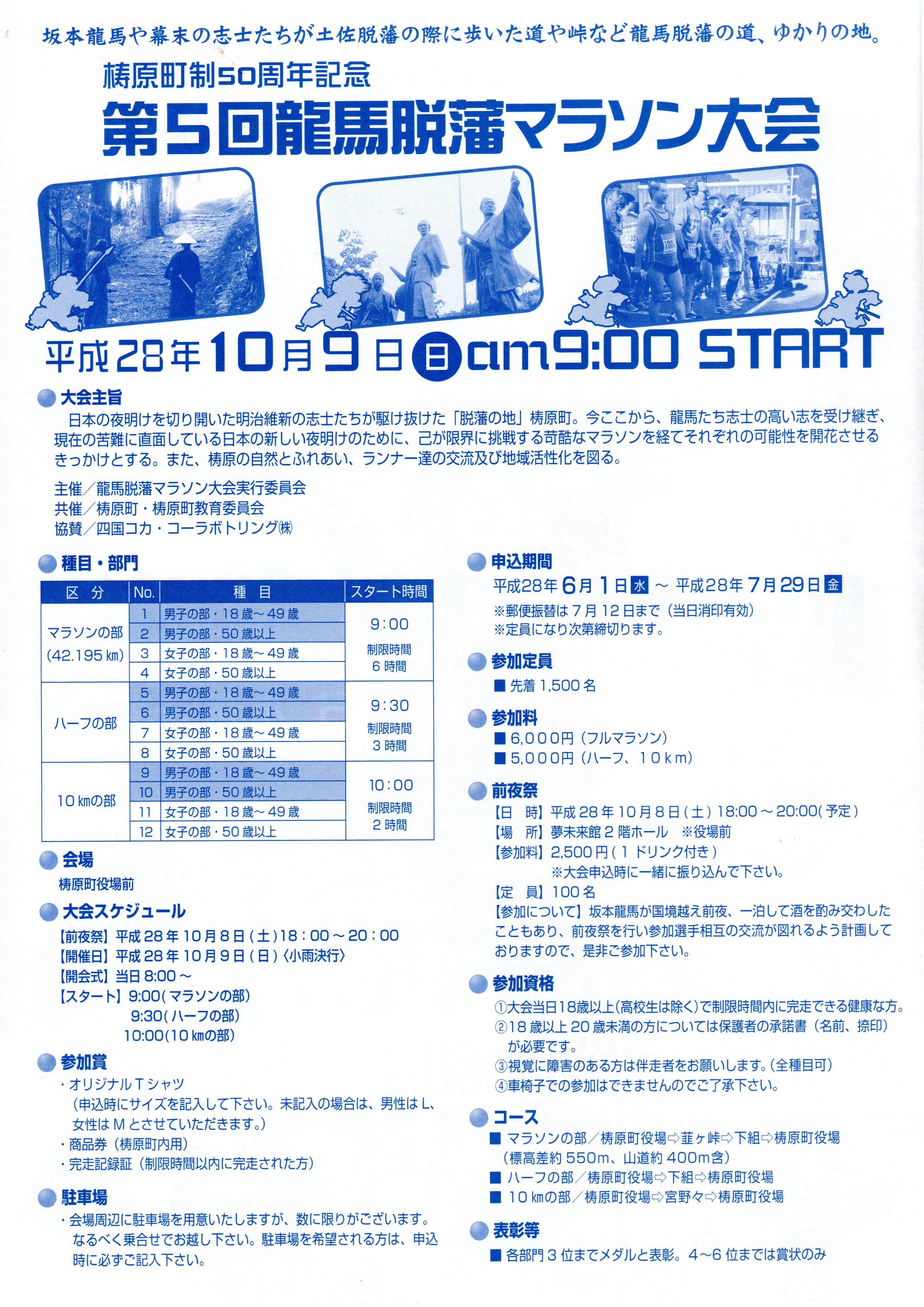 龍馬脱藩マラソン詳細200