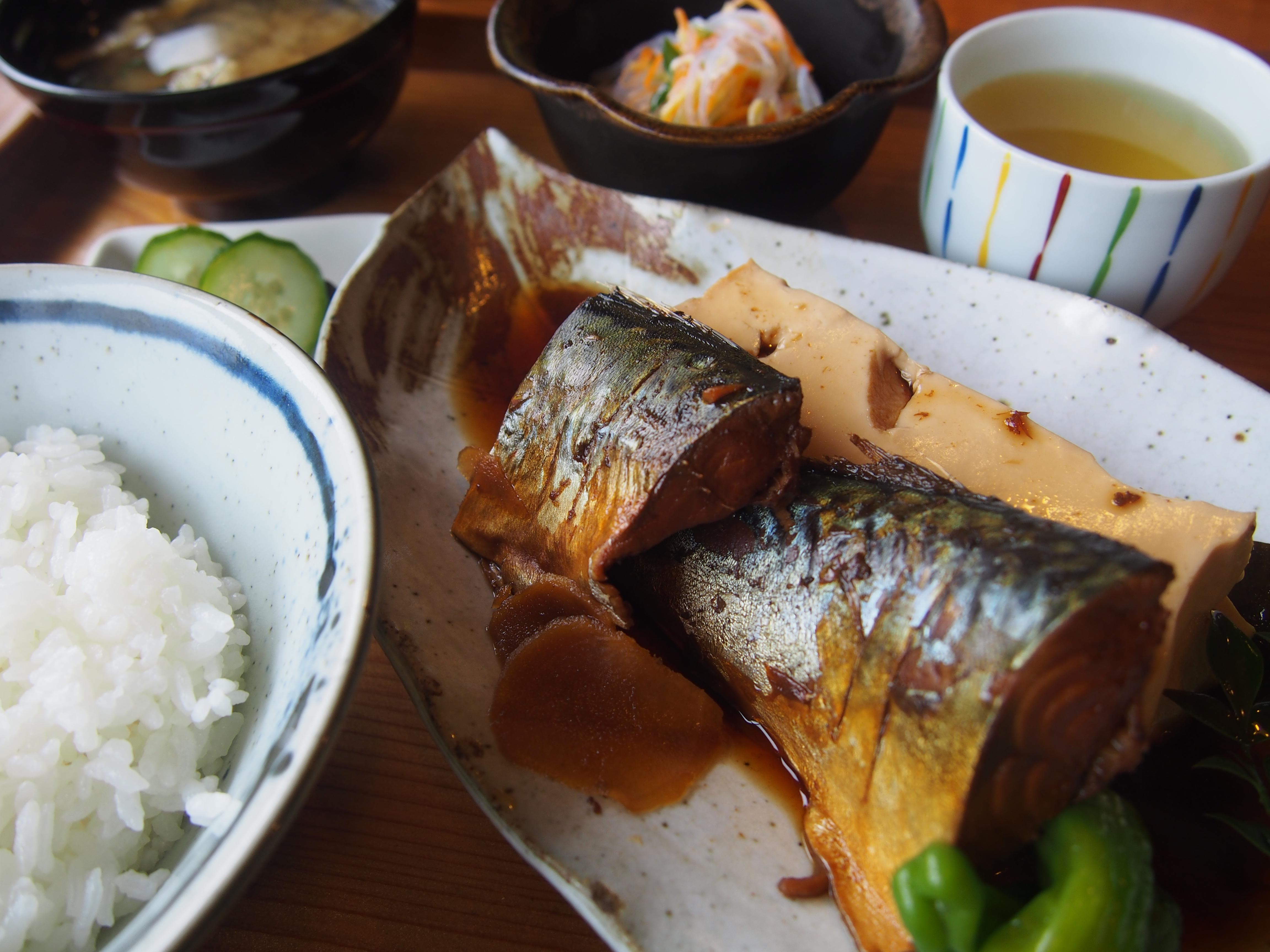 高知 中土佐町 萬や ランチ 煮魚定食