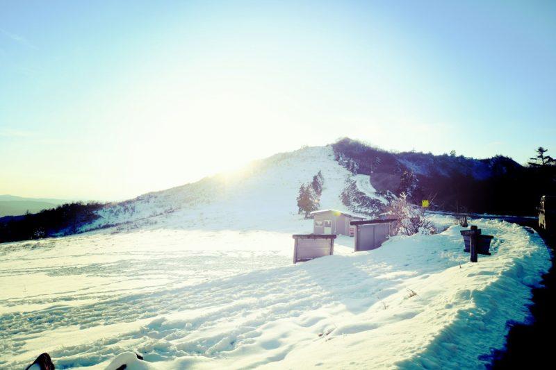 四国カルスト天狗高原の冬景色