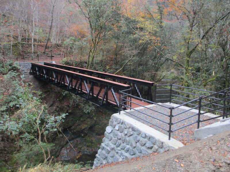 【梼原町】★久保谷森林セラピーロードに新しく橋が完成しました★